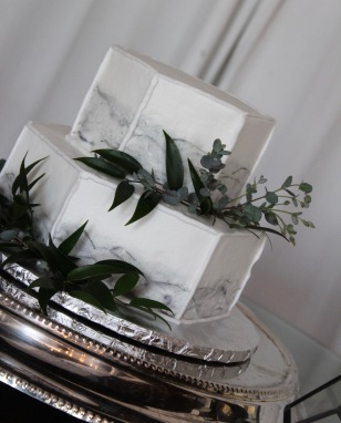 Marble Wedding Cake | Greenery | Chattanooga Wedding Flowers | Lang Floral Designs | Tennessee