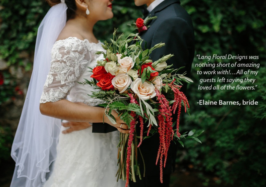 wild_cascading_bouquet_hanging_ararathus_olive_branch_Lang_Floral_testimonial