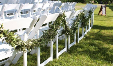 Olive Branch Garland by Lang Floral Designs, Chattanooga Wedding Flowers