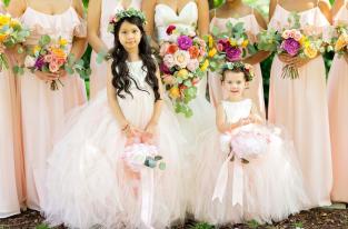 Fuschia_Coral_Peach_Cascading_Bouquet_The_Venue_Chattanooga_Latin_Wedding_Lang_Floral_Designs6