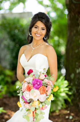 Fuschia_Coral_Peach_Cascading_Bouquet_The_Venue_Chattanooga_Latin_Wedding_Lang_Floral_Designs7