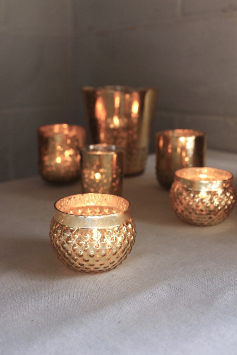 Wedding Decor Rentals, Gold Mercury Glass, Lang Floral Designs, Chattanooga Wedding Decor