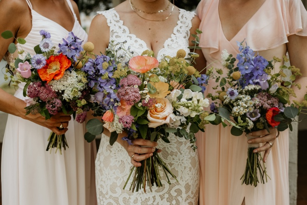 Wildflower Bouquets, Lang Floral Designs, Lindsey Lowe Photography, Chattanooga Wedding