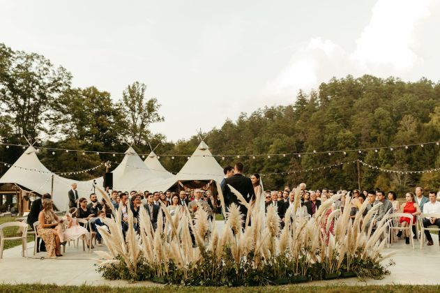 Boho_Glamping_Wedding_Pampas_Grass_Crescent_Installation_Pigeon_Forge_Wedding_Under_Canvas_Smokey_Mountains_Chattanooga_Wedding_Flowers_Lang_Floral_Designs_6